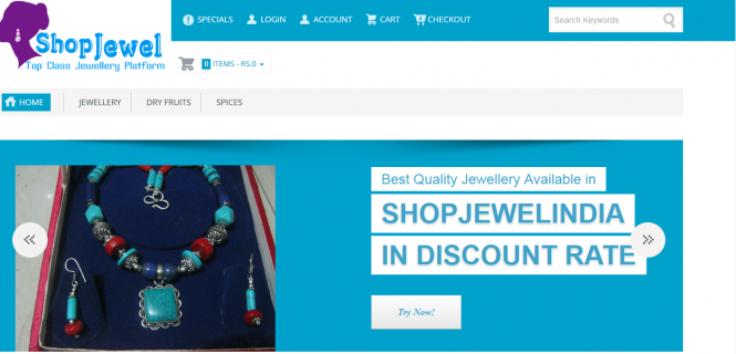 eCommerce Portal Shop Jewel India Lt